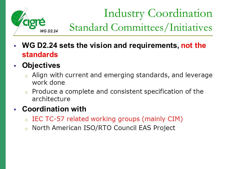 Industry Coordination Standard Committees/Initiatives