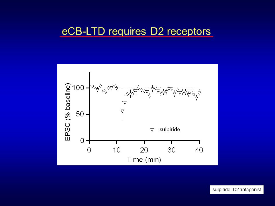 eCB-LTD requires D2 receptors