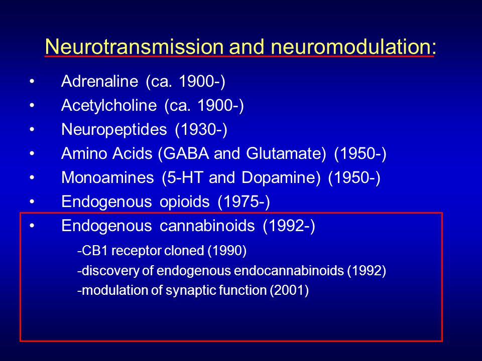 Neurotransmission and neuromodulation: