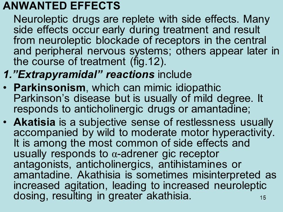 1. Extrapyramidal reactions include