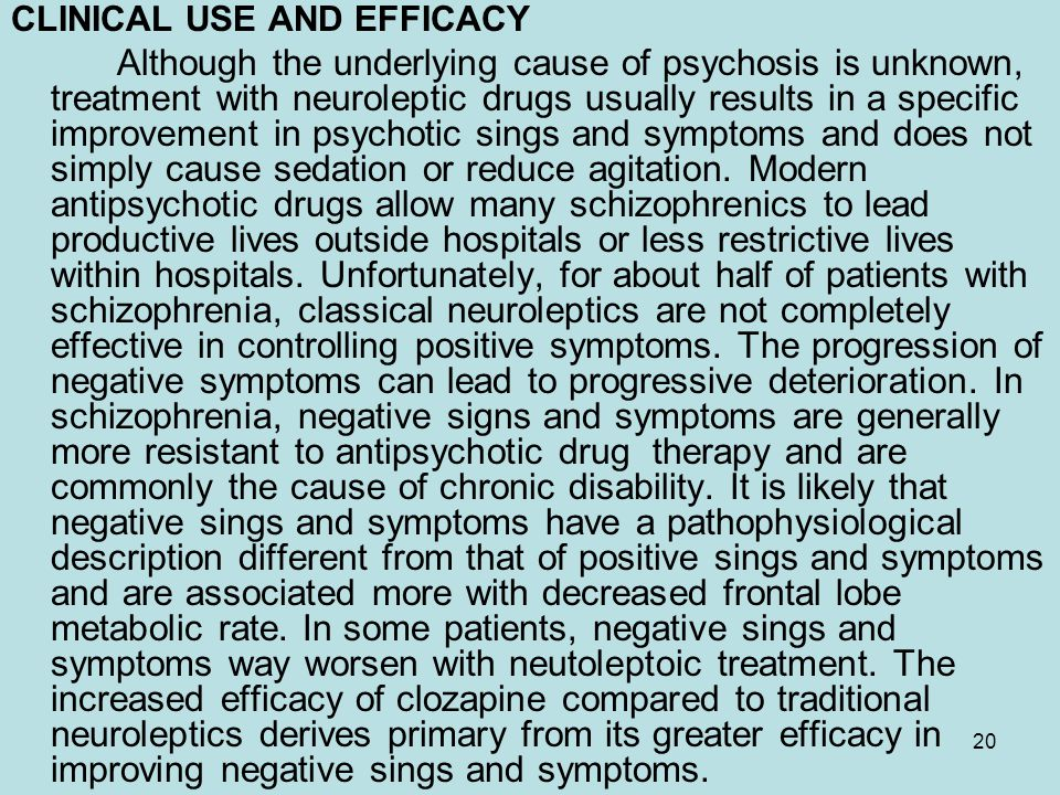 CLINICAL USE AND EFFICACY