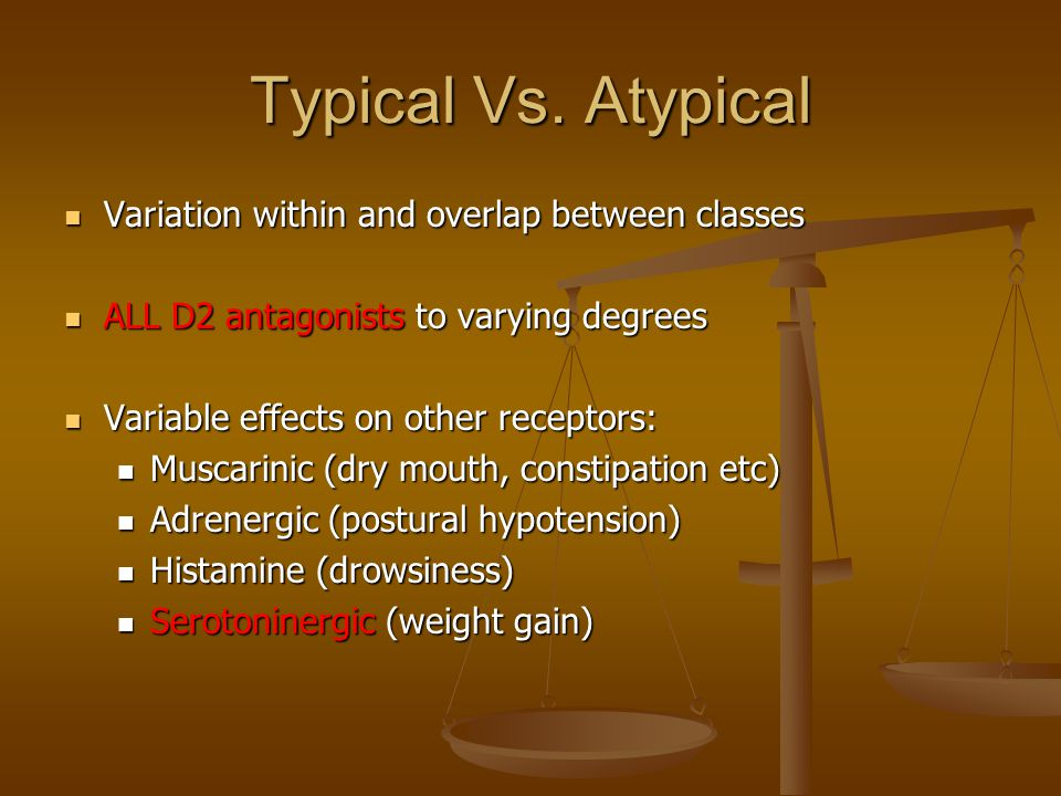 Typical Vs. Atypical Variation within and overlap between classes