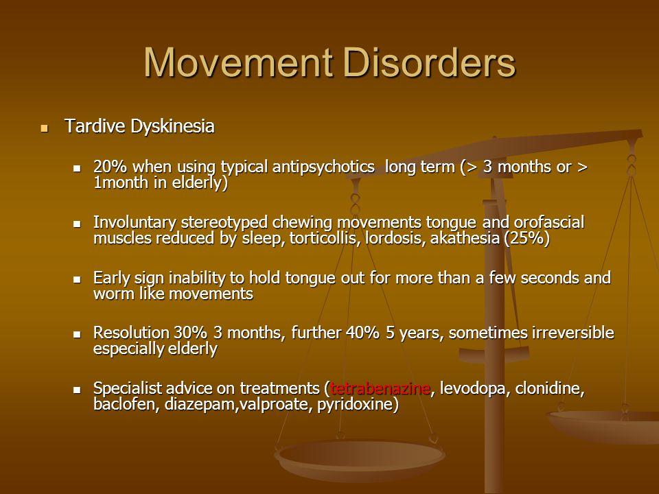 Movement Disorders Tardive Dyskinesia