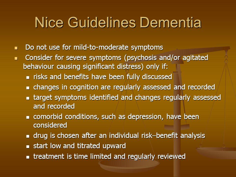Nice Guidelines Dementia