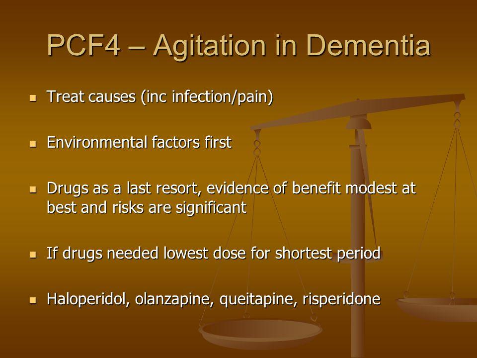 PCF4 – Agitation in Dementia