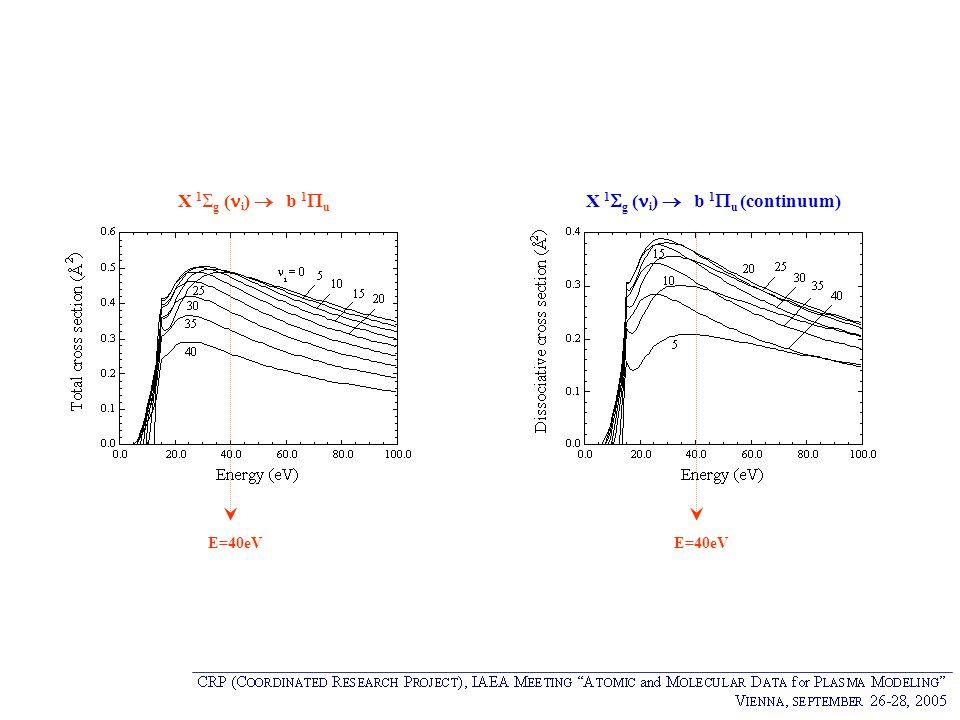 X 1g (i)  b 1u (continuum)