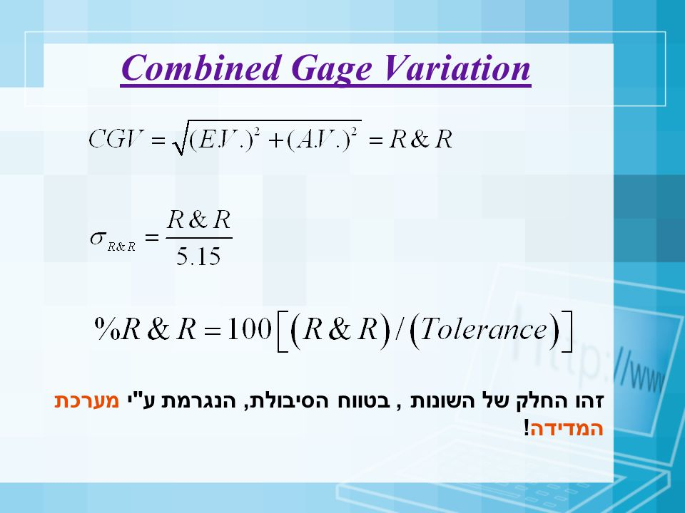 Combined Gage Variation