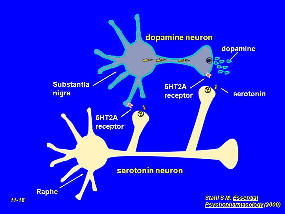 dopamine neuron serotonin neuron dopamine Substantia nigra