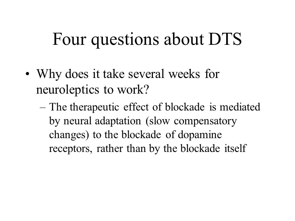 Four questions about DTS