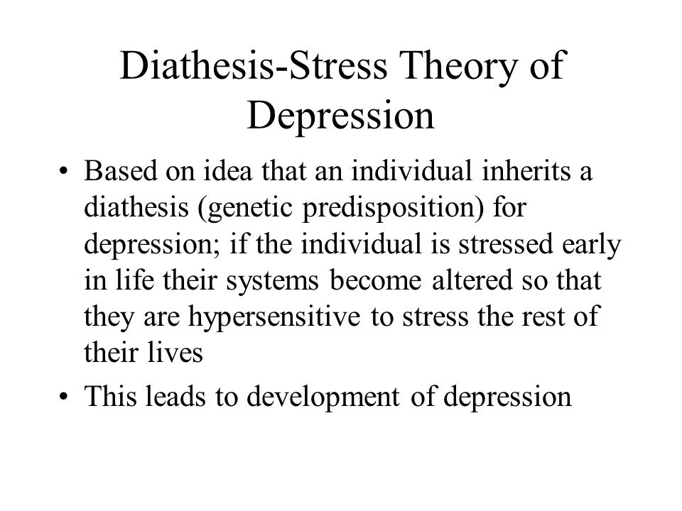 Diathesis-Stress Theory of Depression