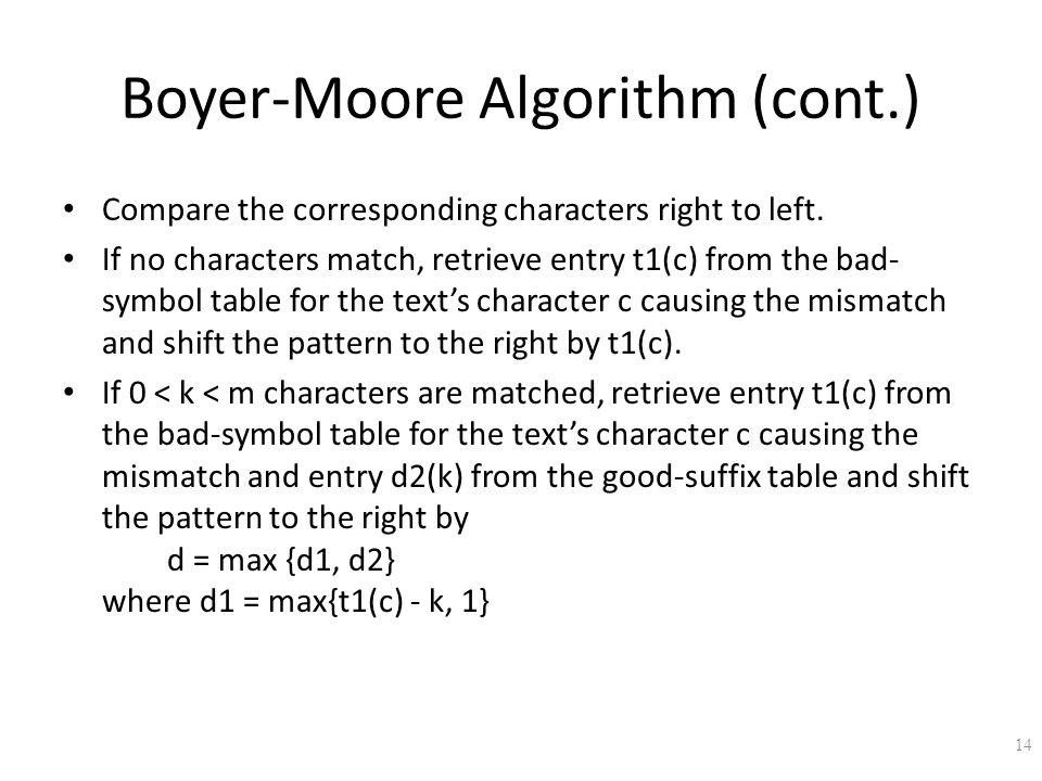 Boyer-Moore Algorithm (cont.)