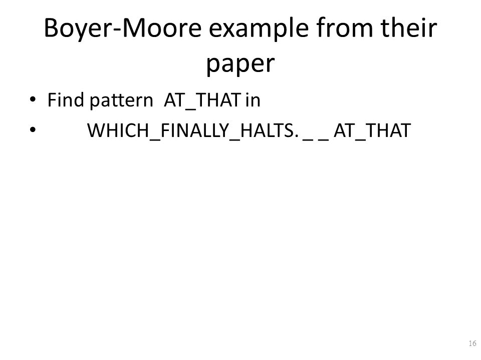 Boyer-Moore example from their paper