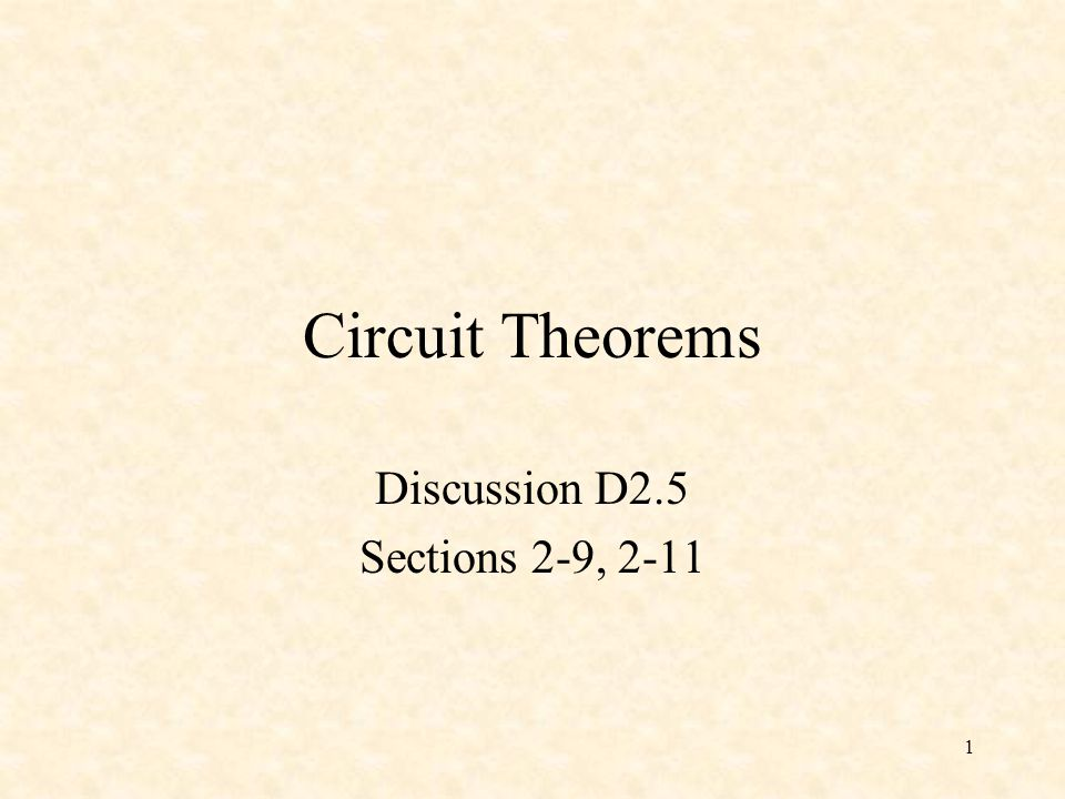 Discussion D2.5 Sections 2-9, 2-11