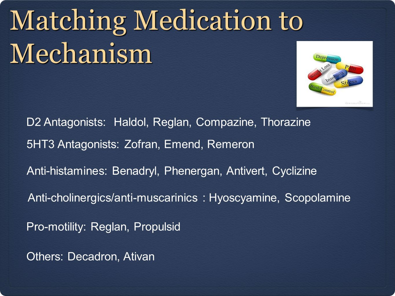 Matching Medication to Mechanism