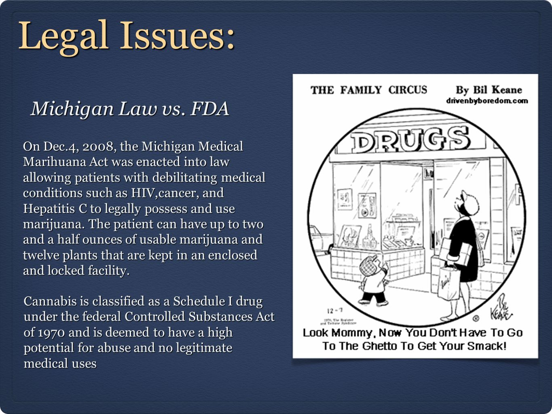 Legal Issues: Michigan Law vs. FDA
