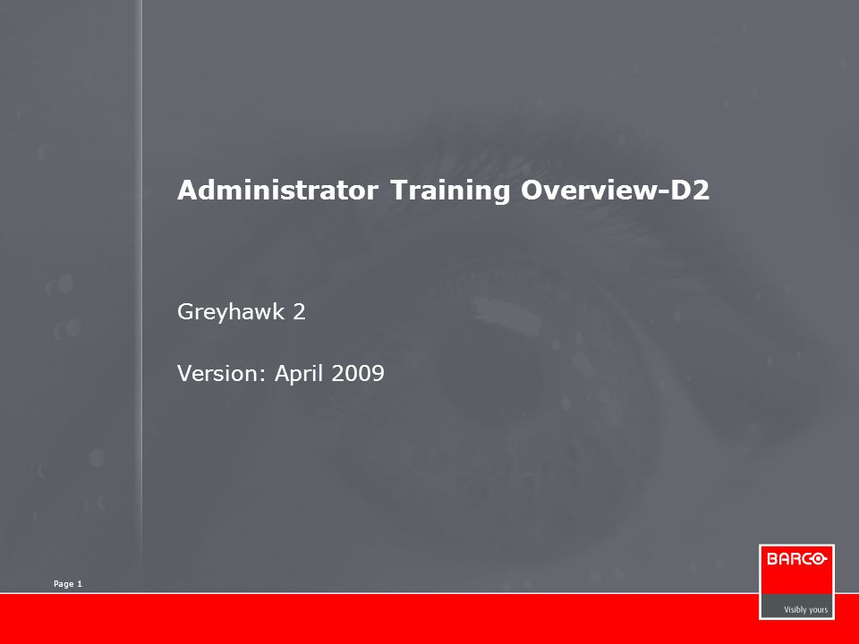 Administrator Training Overview-D2