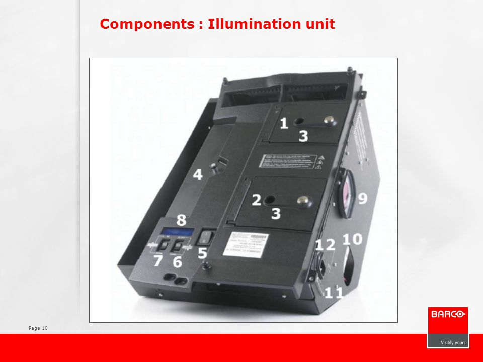 Components : Illumination unit