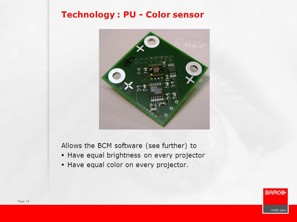 Technology : PU - Color sensor