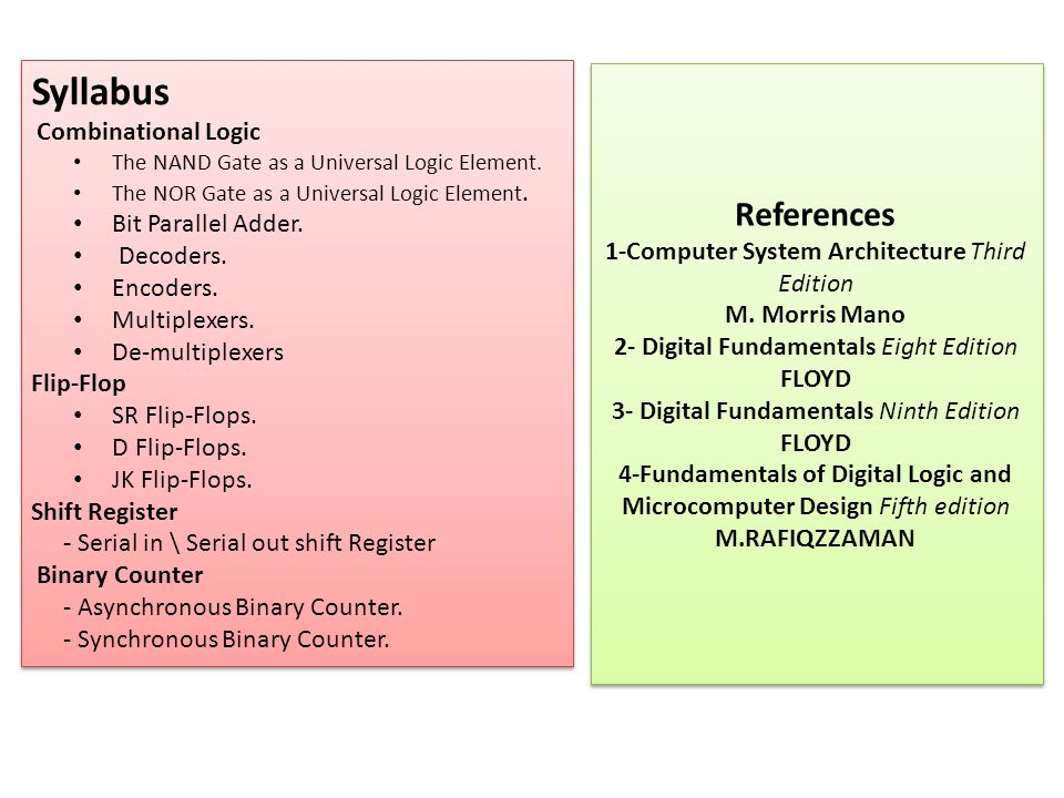 4-Fundamentals of Digital Logic and