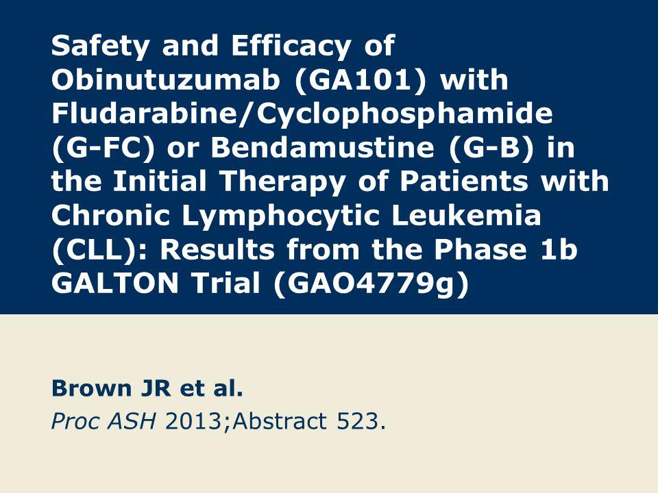 Brown JR et al. Proc ASH 2013;Abstract 523.
