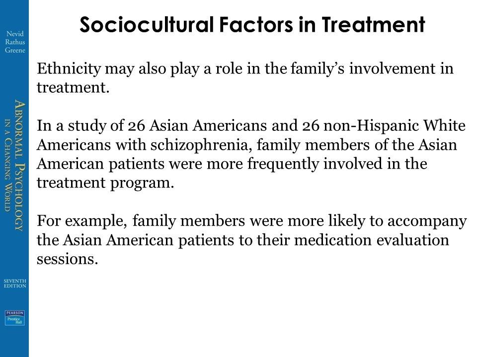 Sociocultural Factors in Treatment