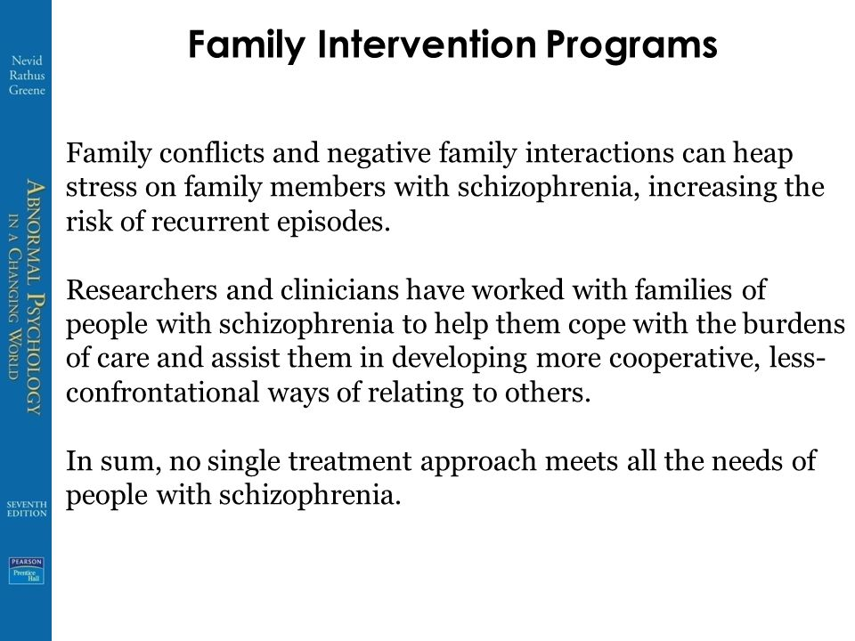 Family Intervention Programs