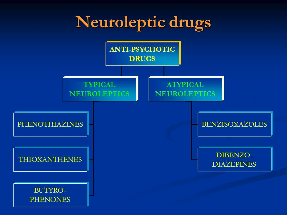 Neuroleptic drugs ANTI-PSYCHOTIC DRUGS TYPICAL NEUROLEPTICS ATYPICAL