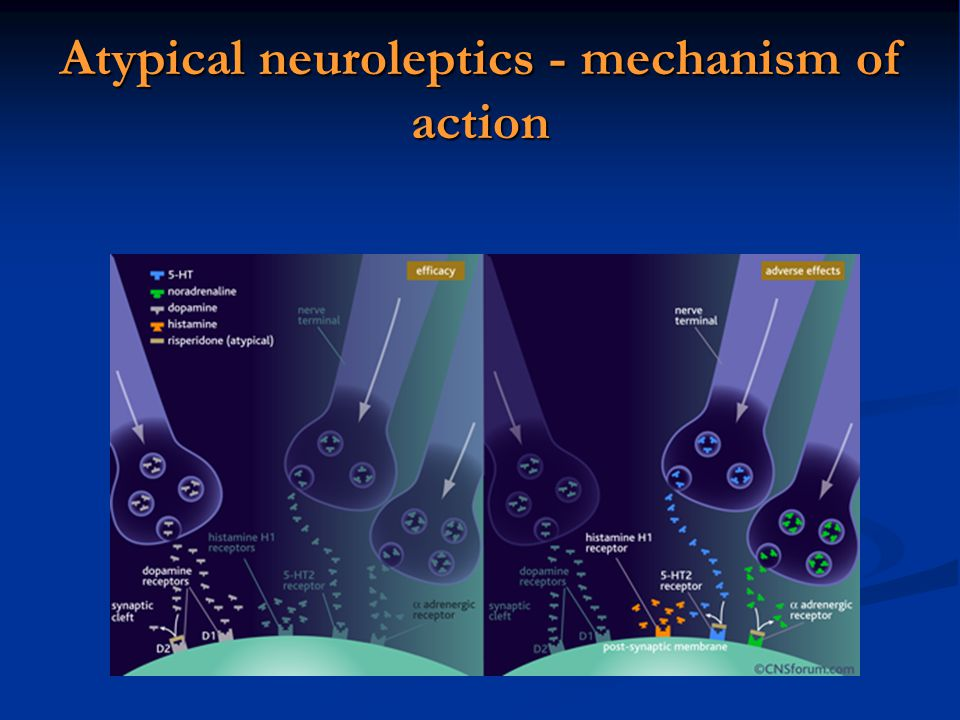 Atypical neuroleptics - mechanism of action