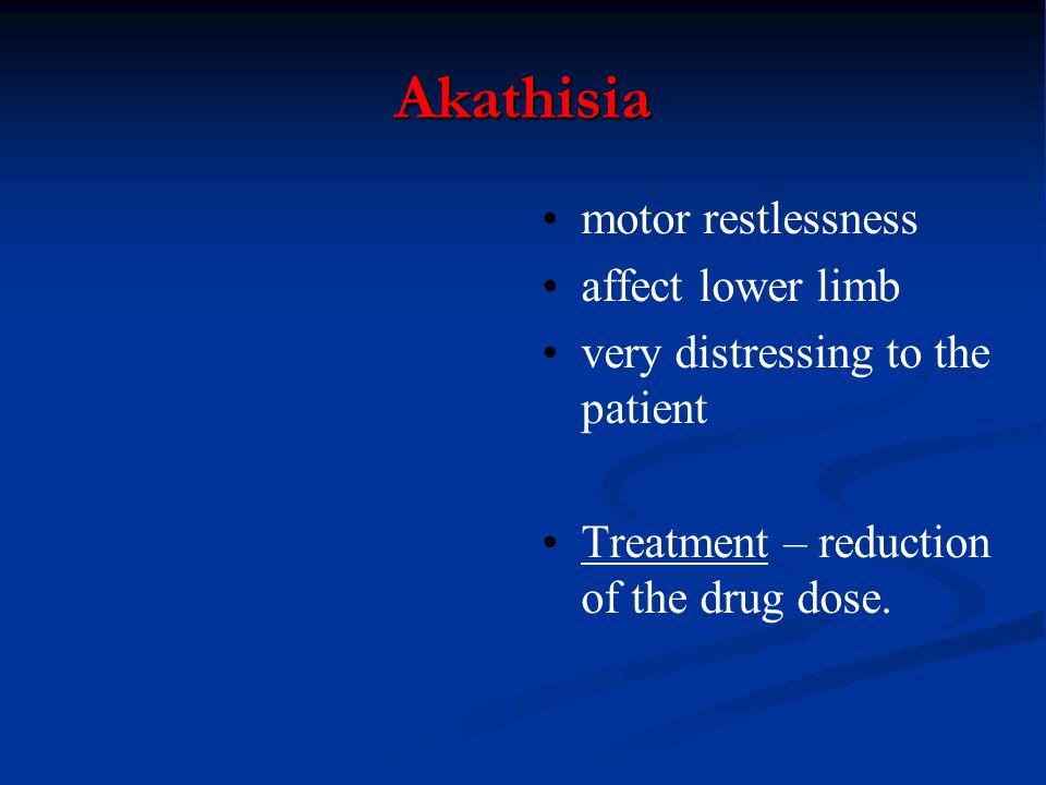 Akathisia motor restlessness affect lower limb