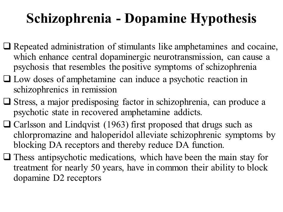 Schizophrenia - Dopamine Hypothesis