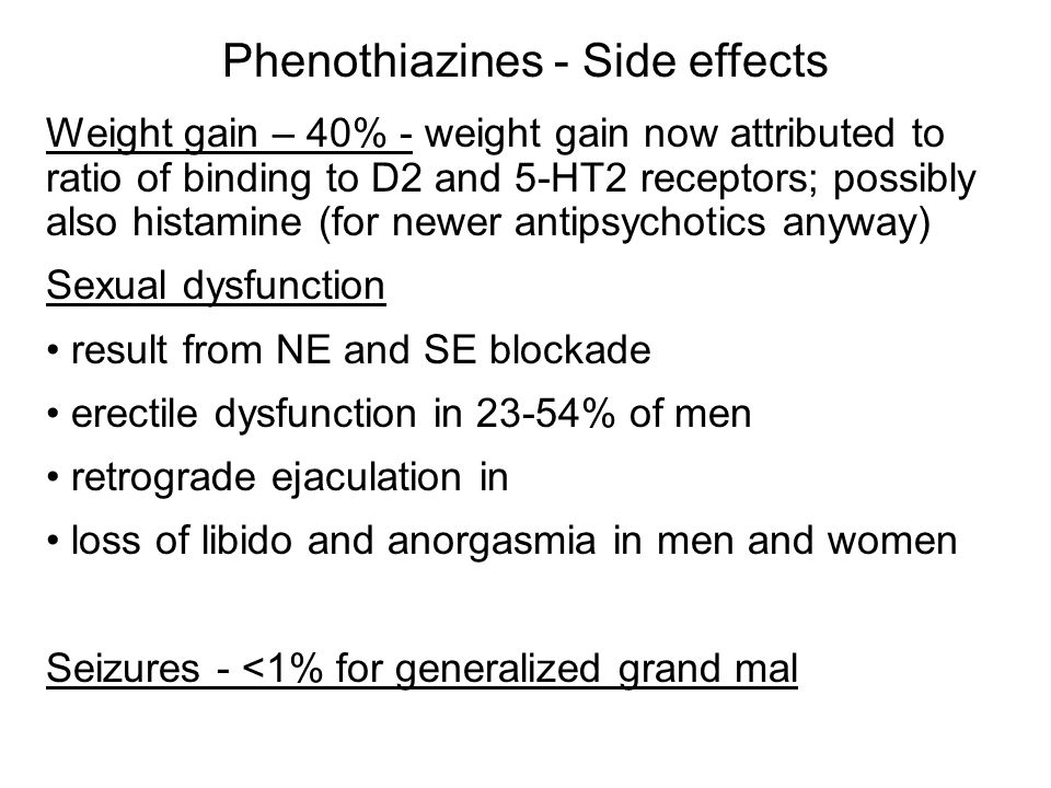 Phenothiazines - Side effects
