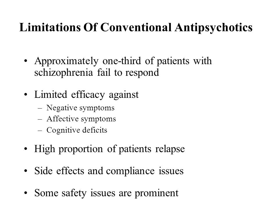 Limitations Of Conventional Antipsychotics