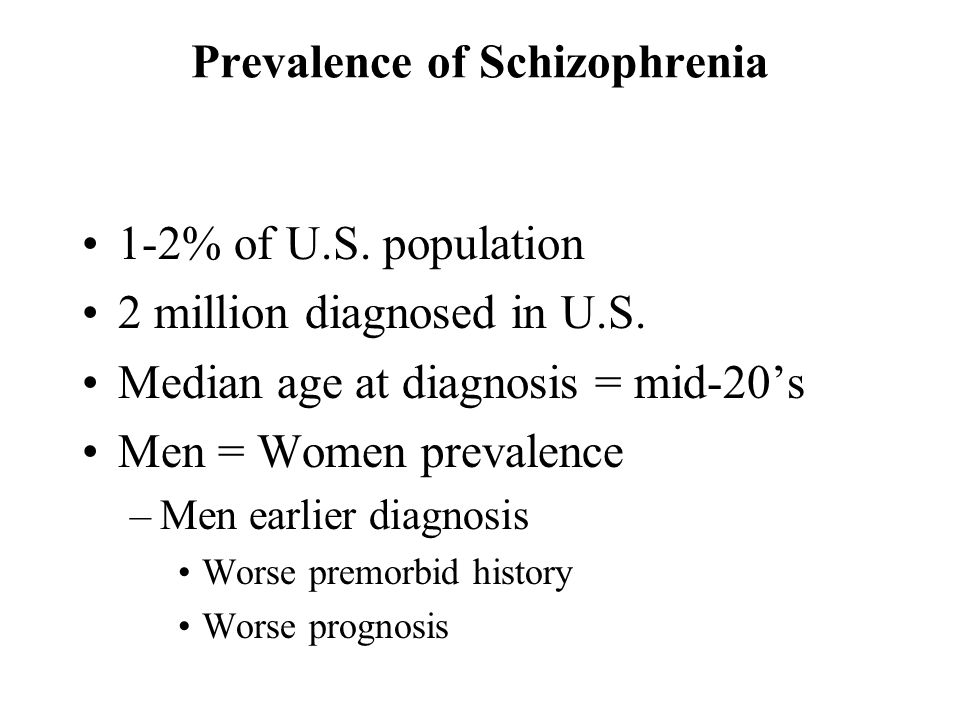 Prevalence of Schizophrenia