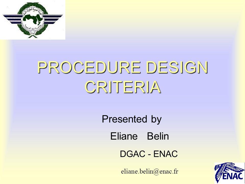 PROCEDURE DESIGN CRITERIA