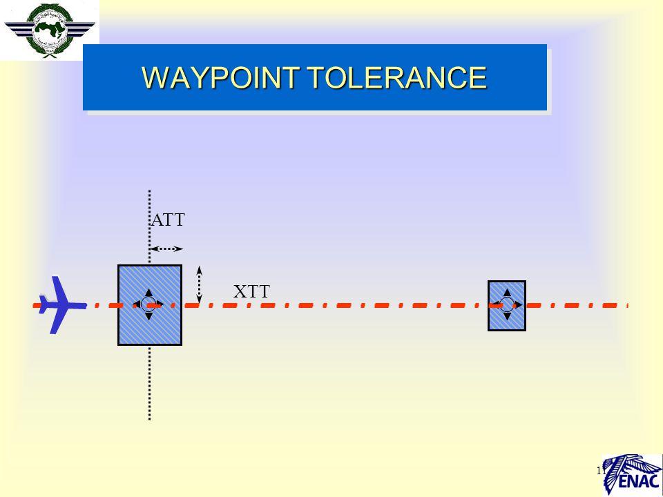 WAYPOINT TOLERANCE ATT XTT