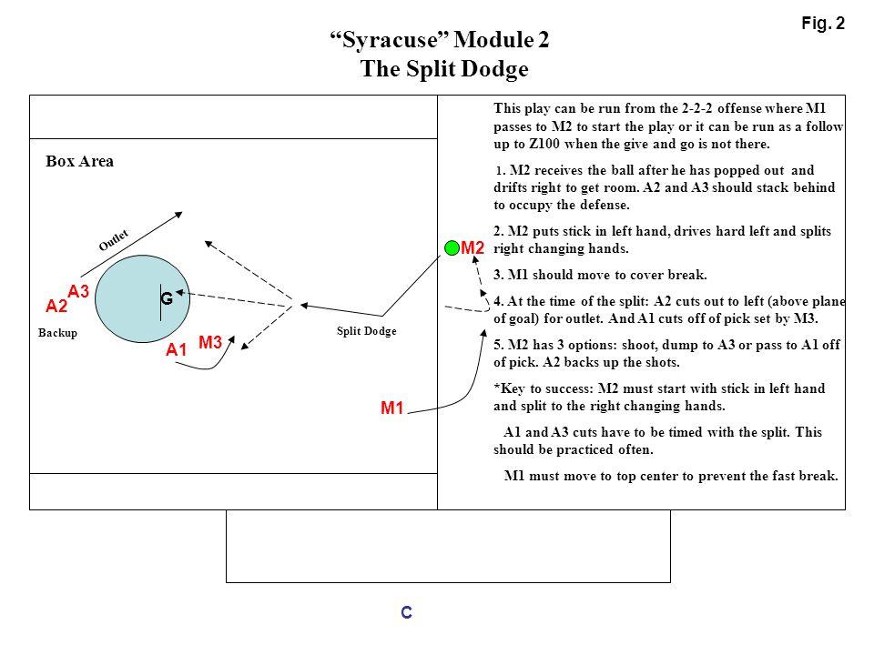 Syracuse Module 2 The Split Dodge Fig. 2 Box Area M2 A3 G A2 M3 A1