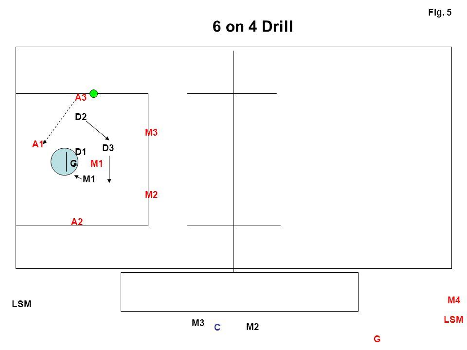 6 on 4 Drill Fig. 5 A3 D2 M3 A1 D3 D1 G M1 M1 M2 A2 M4 LSM LSM M3 C M2