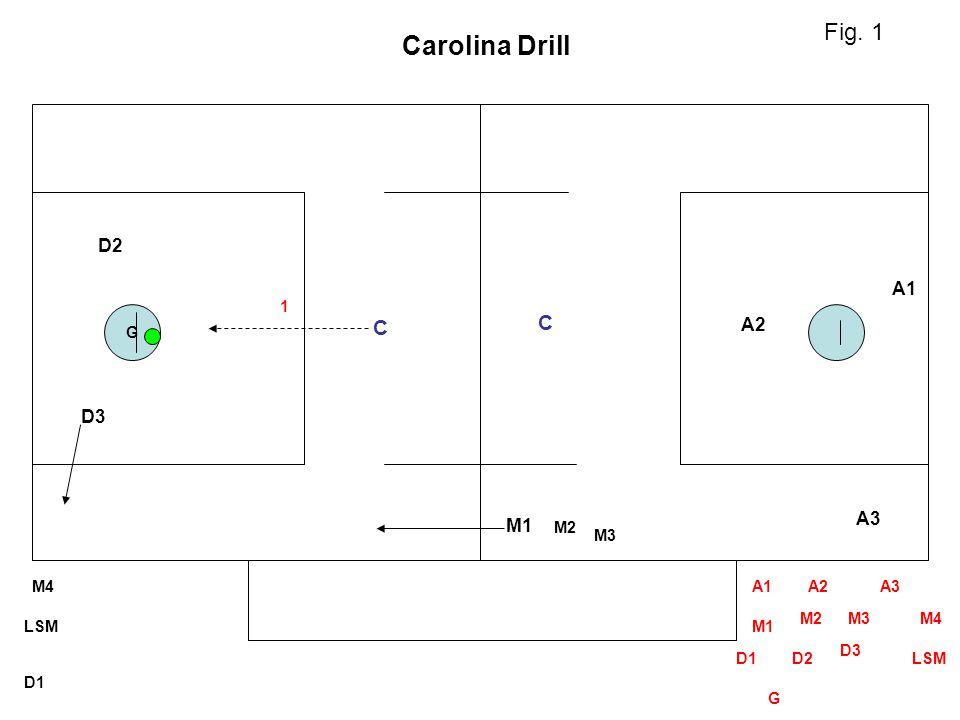 Carolina Drill Fig. 1 C C D2 A1 A2 D3 A3 M1 1 G M2 M3 M4 A1 A2 A3 M2