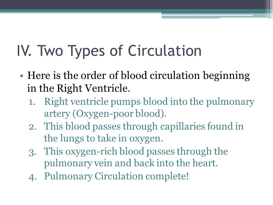 IV. Two Types of Circulation