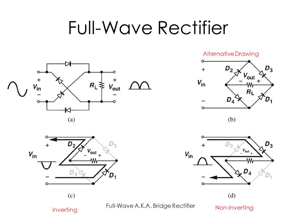 Full-Wave Rectifier Alternative Drawing