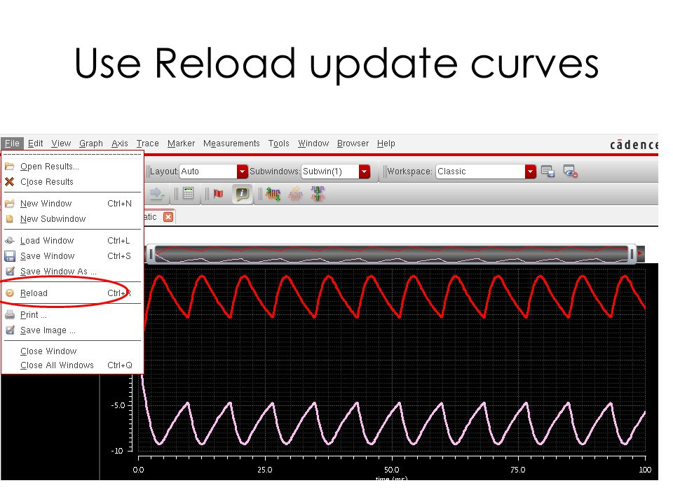 Use Reload update curves