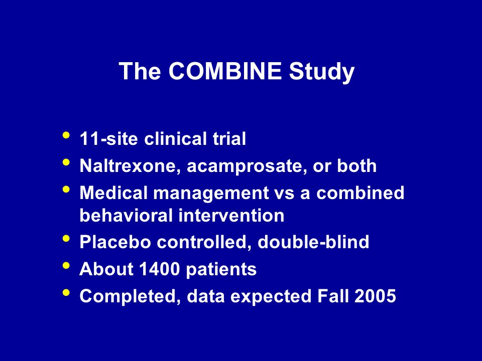 The COMBINE Study 11-site clinical trial