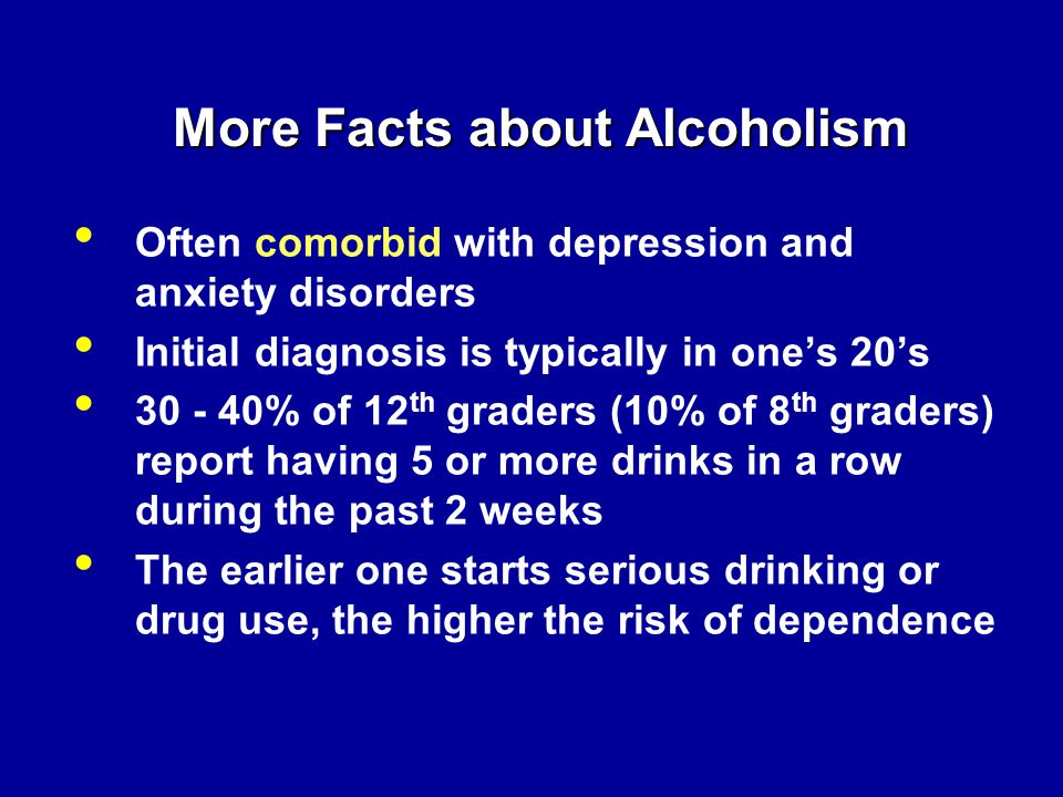 More Facts about Alcoholism