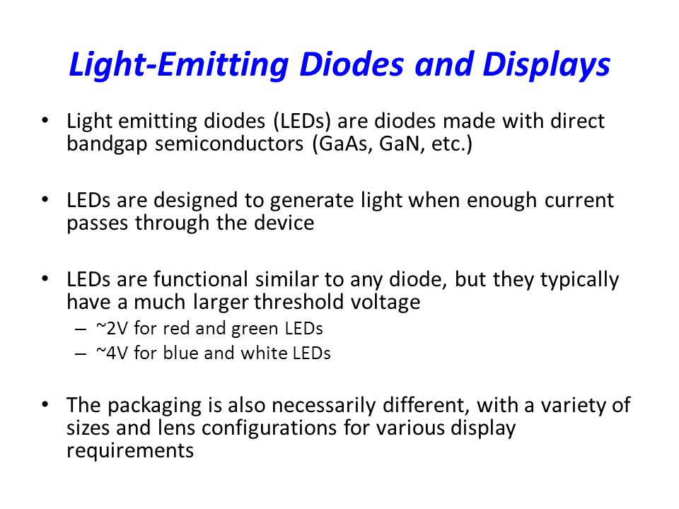 Light-Emitting Diodes and Displays