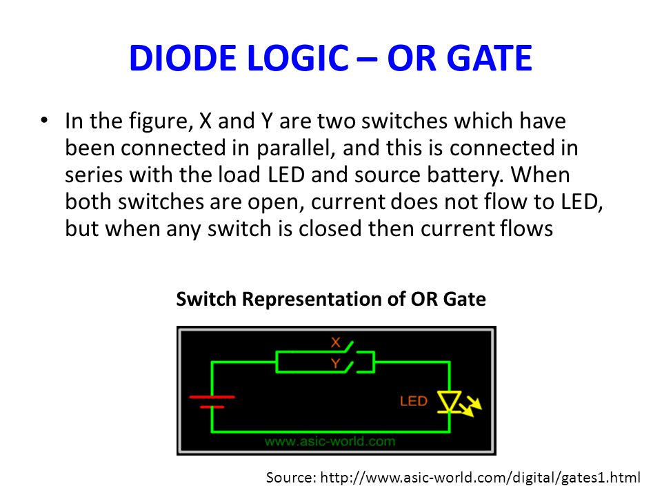 Switch Representation of OR Gate
