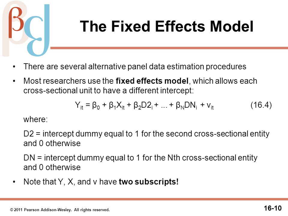 The Fixed Effects Model (cont.)