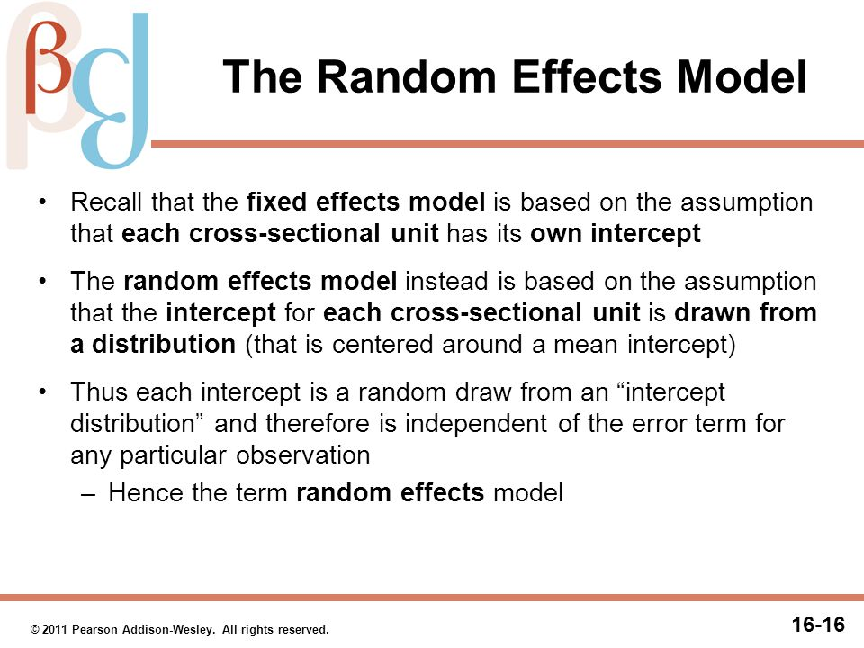 The Random Effects Model (cont.)