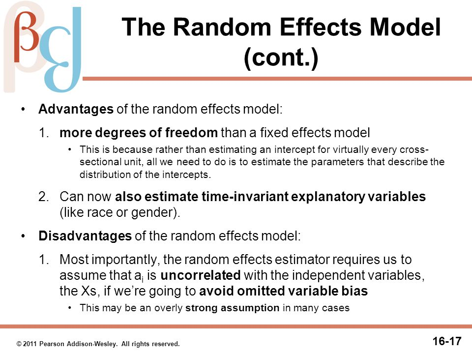 Choosing Between Fixed and Random Effects