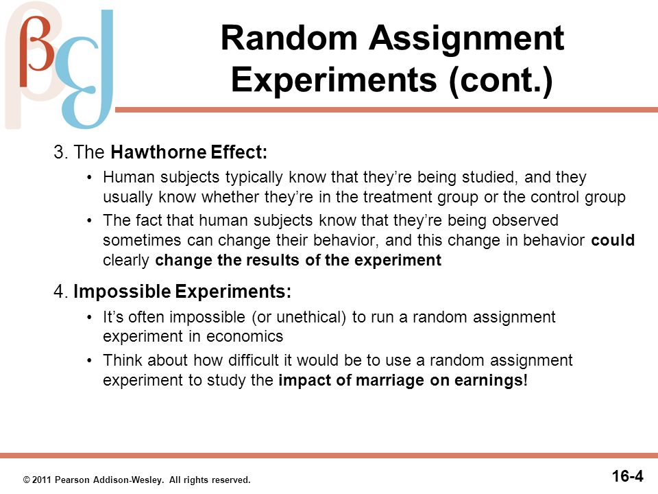 Natural Experiments Natural experiments (or quasi-experiments) are similar to random assignment experiments, except: