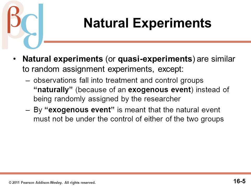 Natural Experiments (cont.)